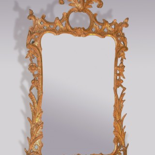 Chippendale period carved giltwood Looking Glass.
