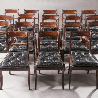 A Set of Eighteen  George IV Mahogany Dining Chairs