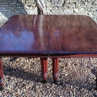 Early 19th Century Regency Period Mahogany Extending Antique Dining Table By James Winter of London