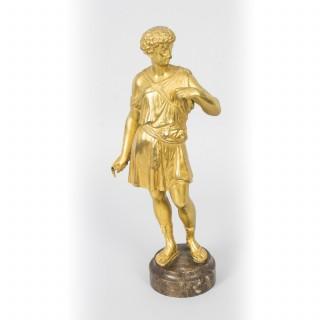 Antique French Grand Tour Ormolu Classical Bronze Sculpture 19 Century