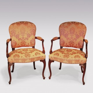 A pair of late 18th Century mahogany Armchairs.