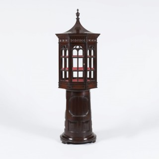 An Unusual Display Cabinet of 'Lighthouse' form