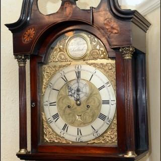 A Scottish 18th century  fine mahogany longcase clock
