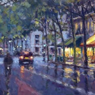 David Farren Evening Cafe, Paris