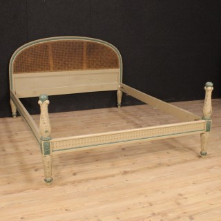 Italian Lacquered Double Bed in Louis XVI Style from 20th Century
