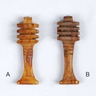 Egyptian Carnelian Djed Pillar Amulets