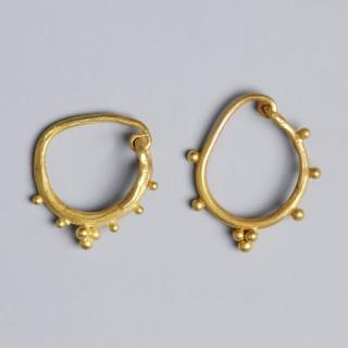 Pair of Roman gold Earrings