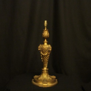 English Bronze Ram Headed Table Lamp