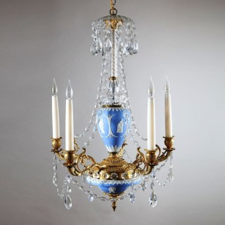 ANTIQUE WEDGWOOD REGENCY CHANDELIER