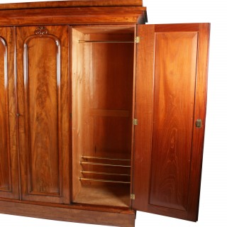 Victorian Mahogany Three Door Wardrobe