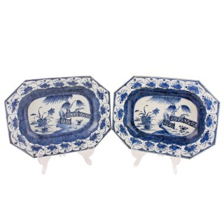 Pair of Qianlong Porcelain Dishes