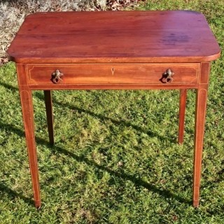 18th Century George III Period Mahogany Antique Side Table