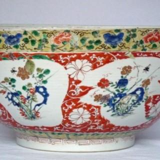 kangxi Famille Verte  Punch Bowl