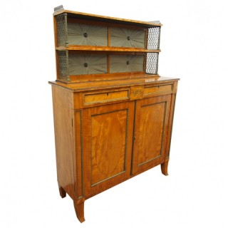 Regency Satinwood and Brass Inlaid Chiffonier in Style of William Trotter