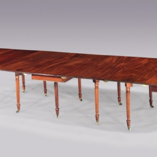 Regency Period Mahogany Extending Dining Table