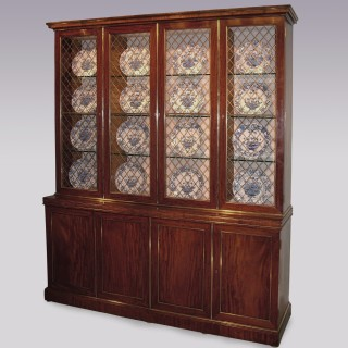 Early 19th Century Regency period mahogany Display Bookcase.