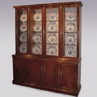 Early 19th Century Regency period mahogany Display Bookcase.