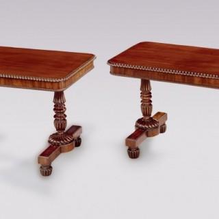 A pair 19th century mahogany Gillows Writing Tables.