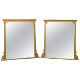 Pair of Victorian Giltwood Wall Mirrors