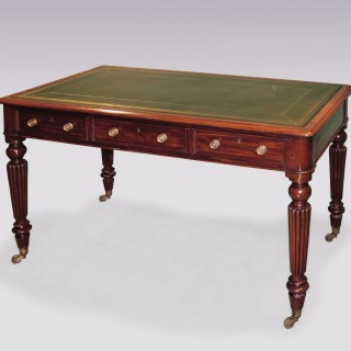 Early 19th Century William IV period mahogany Writing Table.