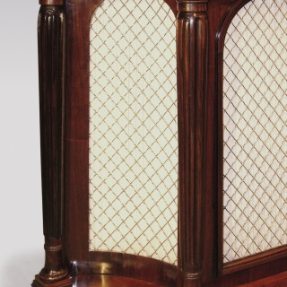 An early 19th Century Regency period rosewood concave Chiffonier.