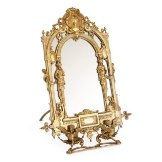 19th Century Empire style ormolu table mirror