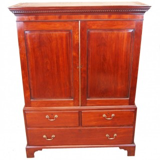 Mahogany 18th Century Georgian Small Linen Press Cupboard