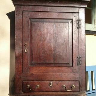18th Century George II Period Oak Antique Cupboard