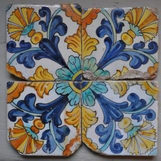 17th century Spanish tiles