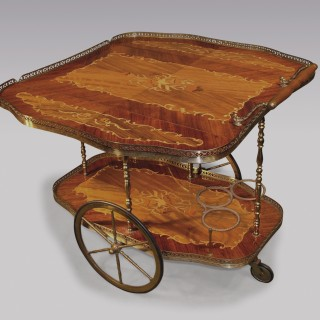 A unique Edwardian rosewood Drinks Trolley.