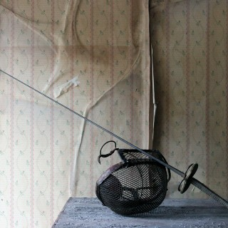 An Evocative Late 19thC Fencing Foil Epee Sword & Mask c.1890-1900