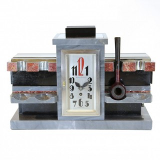 Alfred Dunhill Art Deco pipe stand clock