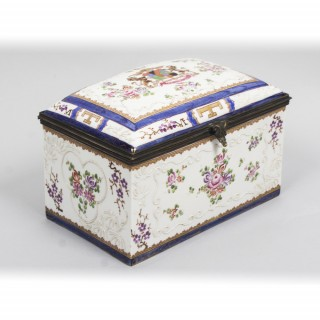 Antique large Samson of Paris Porcelain Casket 19th C