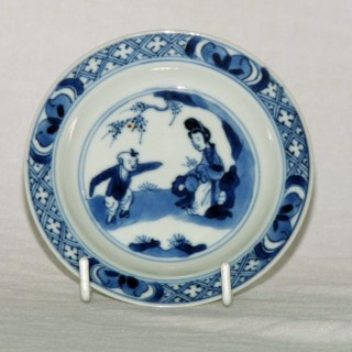 Kangxi Blue and White Small saucer