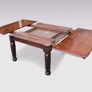 William IV mahogany extending Dining Table.