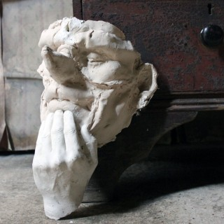 Beth Carter; 'Thinking Clown Mask'; Jesmonite & Plaster; Unique