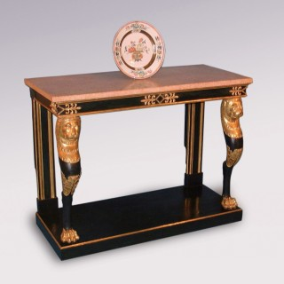 Antique Regency period painted and gilt Console Table.