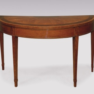 Late 18th Century Sheraton period large satinwood Card Table.