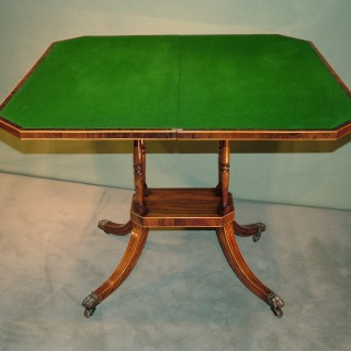 An early 19th Century Regency period rosewood Card Table.