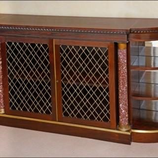 Antique Irish  Regency period rosewood Cabinet or Chiffonier,