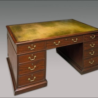 Antique later Georgian period Partner's Desk
