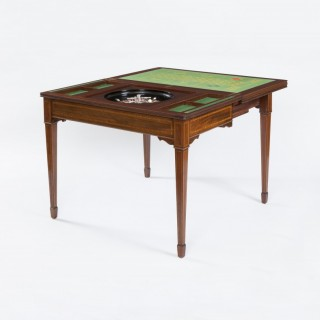 Mahogany Roulette and Card Table