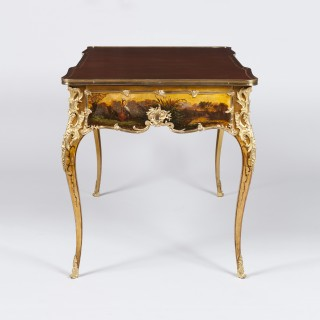 Writing Table painted in the Vernis Martin Style