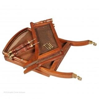 Antique Portable Regency Bergere Armchair
