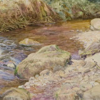 EDWARD STEEL HARPER RBSA (1878-1951) A DEVON TROUT STREAM