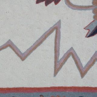 NEEDLEWORK EMBROIDERY RUG / WALL HANGING