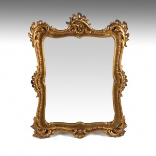 Finely Carved Giltwood 19th Century Mirror