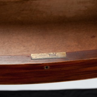 Antique Georgian Bow Front Chest Having an Unusual Drawer Formation