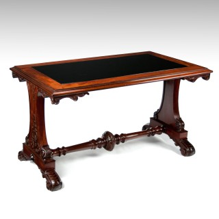 Fine 19Th Century Mahogany Centre / Sofa Table With Inset Slate Top