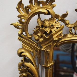 Chippendale Style Giltwood Wall Mirror